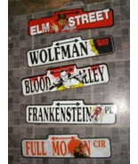 Monster Plastic Street Signs Decorations  Nightmare On Elm Street Dracul... - $36.99