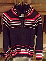 Liz Claiborne Black Pullover Sweater Top Women Petite Medium Long Sleeve... - $12.99