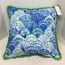 NWT Lilly Pulitzer In Oh Shello For Pottery Barn 20 x 20 In Pillow Shell Design - $84.15