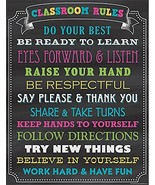Teacher Created Resources Chalkboard Brights Classroom Rules Chart 7565 - $13.44