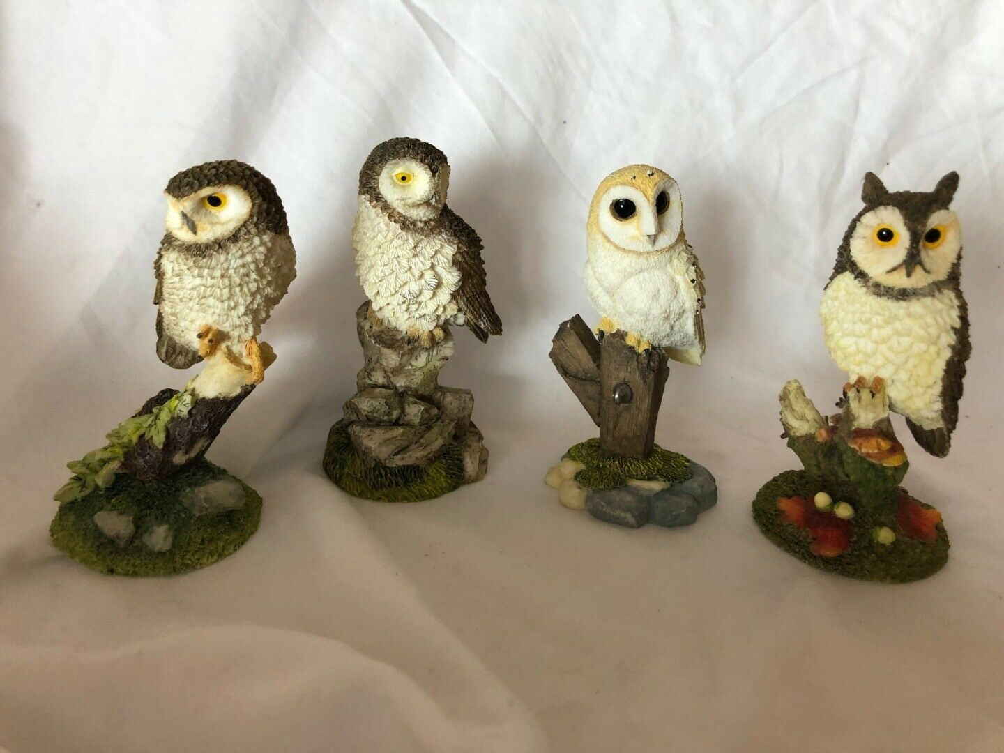 Primary image for Prestige Designs 4 Vintage Owls Set Collection Made in Thailand