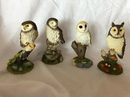 Prestige Designs 4 Vintage Owls Set Collection Made in Thailand - $59.39