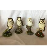 Prestige Designs 4 Vintage Owls Set Collection Made in Thailand - $59.39