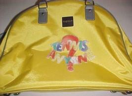 "Isaac Mizrahi Yellow Tennis Anyone? Adult Unisex Travel Dome Satchel 14""... - $59.39"