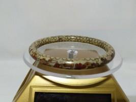 Vintage Floral Cloisonne Bangle Bracelets  - $34.65