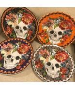 222 FIFTH Marbella Skull Salad Side Plates Set 4~NEW ~ - $40.00