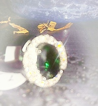 BRING ME MONEY AND SUCCESS SPELLBOUND EMERALD RING - $39.09