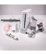 Nintendo Wii Console W/ Sensor + Cords Gamecube Compatible White RVL-001... - $74.44