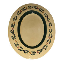 """Williams Sonoma Italy WSO190 16 1/4"""" Oval Platter Yellow Leaf & Berry Vine - $79.95"""
