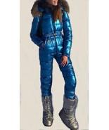 Man Woman Metallic Argentum Blue Ski Suit Skisuit Winter Overall One Pie... - $249.00