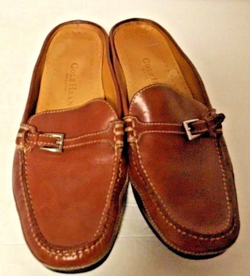 d1e1a7c0128 S l1600. S l1600. Previous. Cole Haan Country Sz 7.5 B Womens Mule Leather  Slip On Shoes Flat Moccasin
