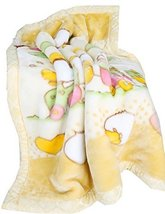 Thick Yellow Duck Raschel Baby Boys Blanket