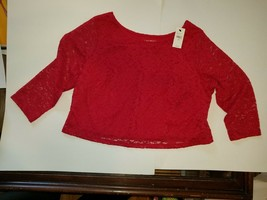 Lane Bryant NWT Size 18/20 crop top  Exquisite red - $29.99