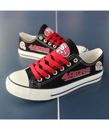 49ers shoes womens 49ers sneakers converse style tennis shoe san francis... - $59.99