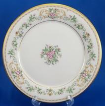 "Gorham Royalston Salad Plate Cream Porcelain Roses Gold Trim 8.5"" - $10.83"