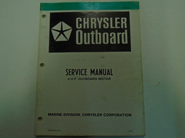 1980 Chrysler Outboard 4 HP Service Repair Shop Manual Factory OEM Book Used - $32.62