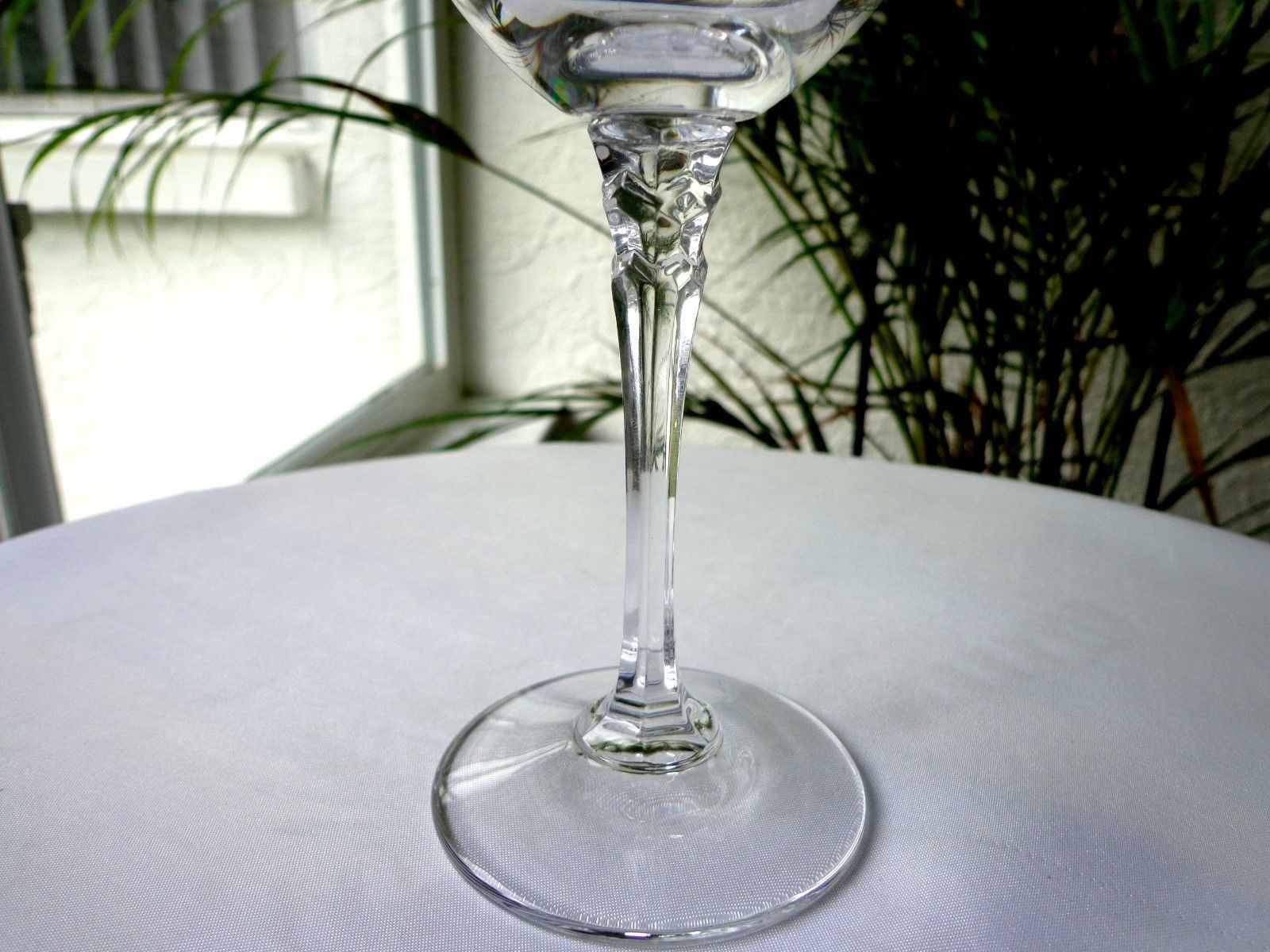 Towle Crystal Tiara Pattern Clear Wine Glass