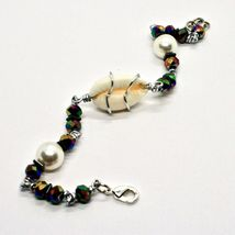 Bracelet the Aluminium Long 20 Inch with Shell Hematite and Pearls image 5