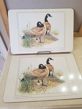 """2 Vintage Pimpernel English Cork Placemat Place Mat Canadian Geese14"""" x ... - $25.99"""