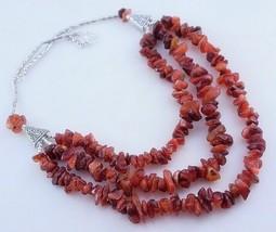 Carnelian Beaded Uncut Necklace Jewelry 100 Gr. ojm-347-4 - $6.71