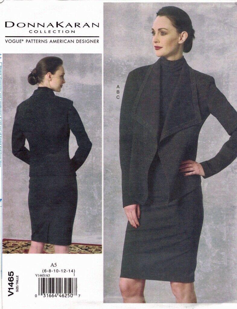 Vogue 1465 Donna Karan Knit Jacket, Pencil Skirt, Top Pattern Choose Size Uncut