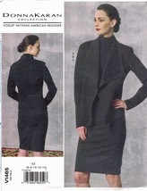 Vogue 1465 Donna Karan Knit Jacket, Pencil Skirt, Top Pattern Choose Siz... - $18.99