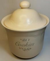 "Pfaltzgraff Cookie Jar  Stoneware Lidded 2.5 Qt Canister""Remembrance"" Pattern  - $13.10"