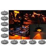 OCTANE LIGHTING 10 Orange Amber LED Chrome Module Motorcycle Chopper Fra... - $29.65
