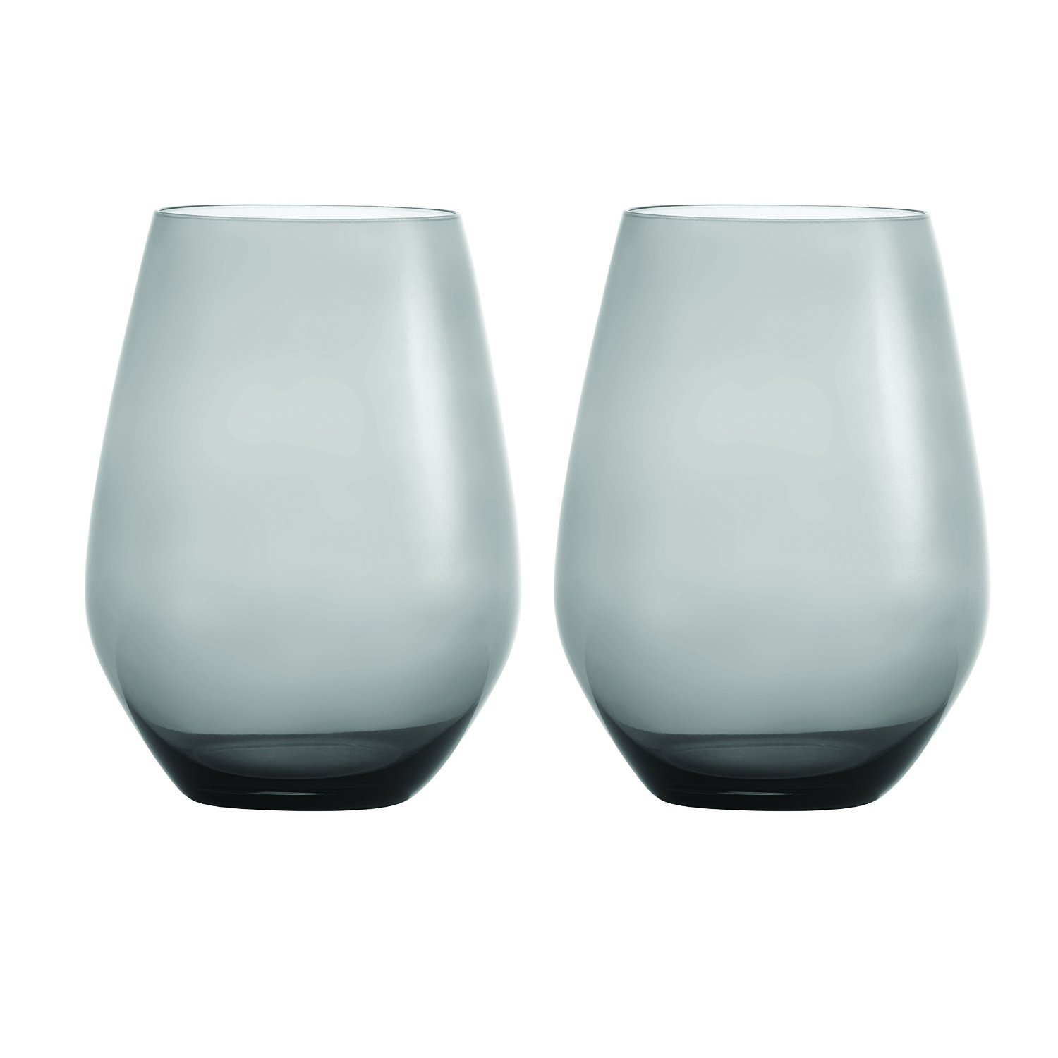 "Primary image for WEDGWOOD VERA WANG ""SMOKE"" STEMLESS WHITE 16 oz. WINE PAIR MADE IN GERMANY NEW"