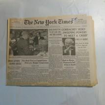 The New York Times September 22 1990 Gorbachev Chase Manhattan Bush Saud... - $39.99