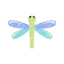 Dragonfly Solid and Translucent DIGITAL File:  Instant Download. No Physical Pro