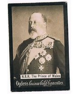 Ogden's Guinea Gold Cigarettes Tobacco Card H.R.H Prince Of Wales Vintage - $3.99