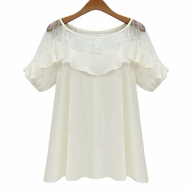 2018 Zanzea Women Sexy Blouses Tops Casual Loose Blusas O Neck Short Sleeve Holl
