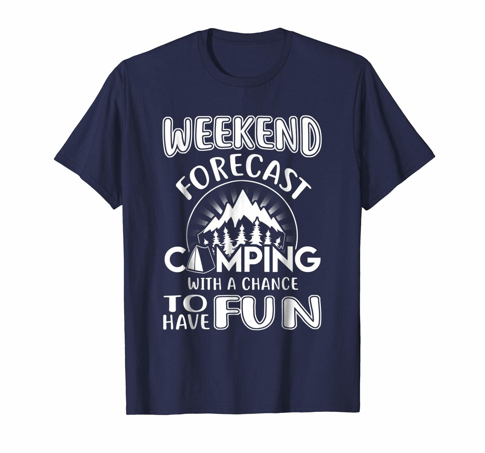 Primary image for Brother Shirts - Weekend forecast camping with a chance to have fun tshirt Men