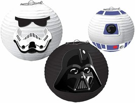 Star Wars Galaxy Paper Lanterns with Add On's Party Decoration Darth 3PCS - $16.78
