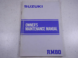 84 Suzuki Rm80 Oem Nos Original Driver's Owner's Manuelle 1984 Rm 80 - $76.92
