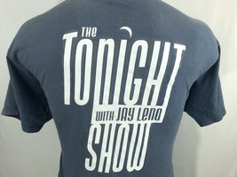 The Tonight Show With Jay Leno Blue Graphic T Shirt 100% Cotton XL X-Large - $10.97
