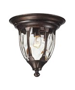 Elk 45004/1 Glendale 1-Light Outdoor Flush Mount with Water Glass Shade,... - $179.40