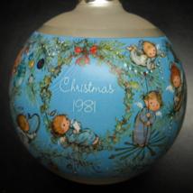 Hallmark Keepsake Christmas Ornament 1981 Mary Hamilton Glass Ornament Boxed - $12.99