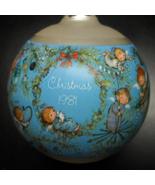Hallmark Keepsake Christmas Ornament 1981 Mary Hamilton Glass Ornament B... - $12.99