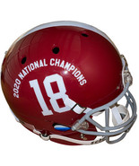 Alabama Crimson Tide Schutt #18 FS Rep Helmet 2020 National Champions Lo... - $116.95