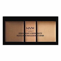 NYX Cosmetics Cream Highlight & Contour Palette Medium - $12.50