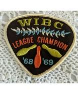 Vintage Bowling Patch League Champion WIBC '68 ' 69 - $7.71