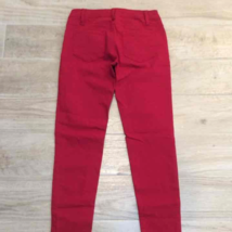 Chocolate RED ZIPPER JEANS S Holiday Red Denim Pants - $25.00