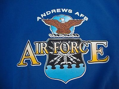 Primary image for vintage Andrews AFB Air Force Military Blue Crew Neck Sweatshirt Men's Size 2XL
