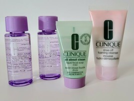 Clinique TRAVEL SIZE LOT  - Take The Day Off All About Clean Rinse Off C... - $16.99