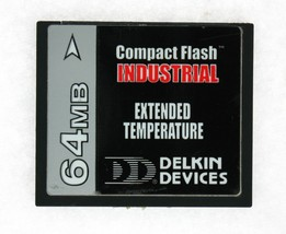 Delkin Devices 64MB Industrial Extended Temp CompactFlash  CFX064E121-DAAA000 - $8.90
