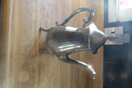 vtg Leonard silver plate original ornate coffee & tea beverage footed pi... - $42.75