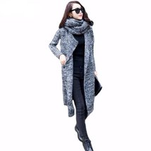 Winter Collar Scarf Loose Long Sweater For Women - $42.96