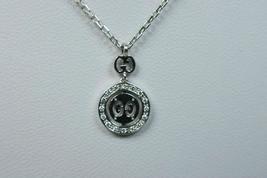 Gucci Double GG Love Britt 18K Gold Diamond Icon Logo Pendant Necklace & Pouch - $1,663.30